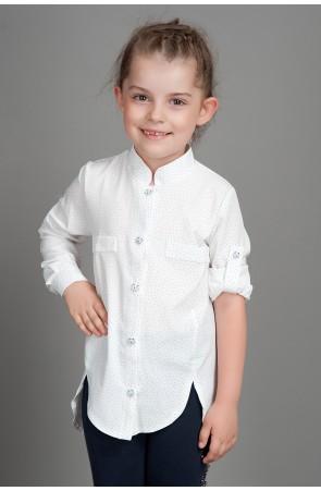 Школьная рубашка для девочки модель 002